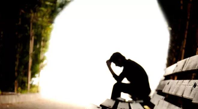 man in depression