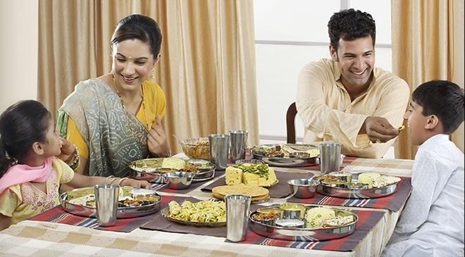 family-having-meal-inmarathi