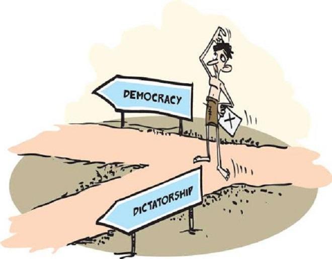democracy inmarathi