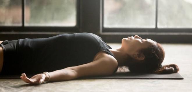 sleeping yoga inmarathi