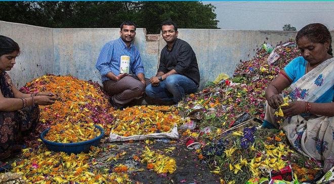 Flower garbage business InMarathi