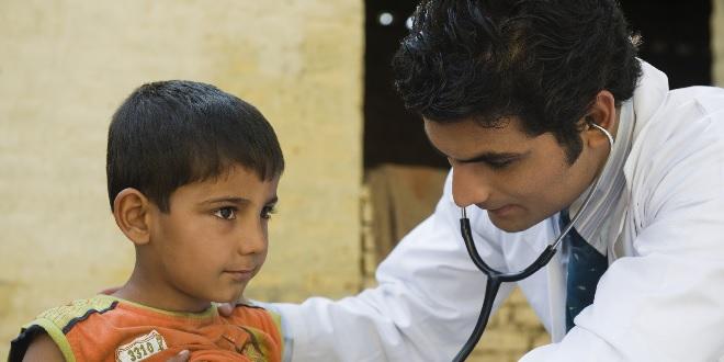 doctor checking child inmarathi