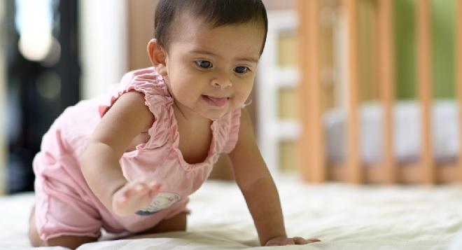 indian child crawling inmarathi
