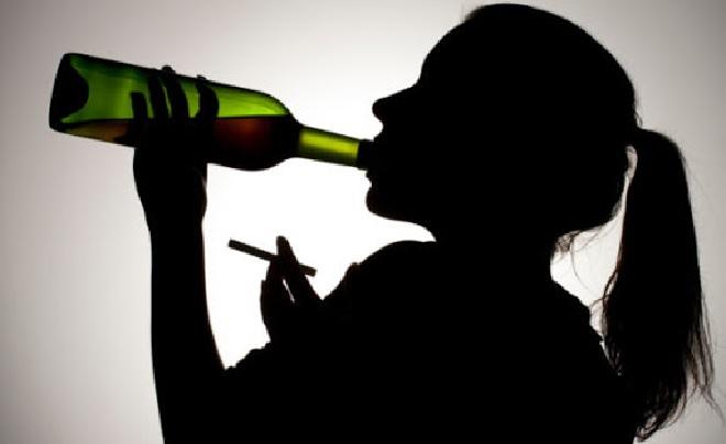 female drinking inmarathi