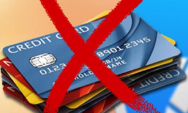 no to credit card inmarathi