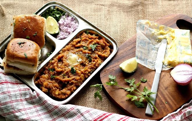 pavbhaji street food inmarathi