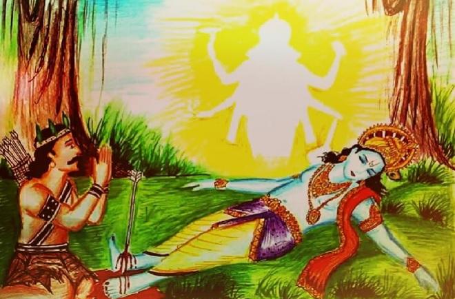 shri krishna death inmarathi