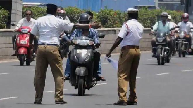 traffic police inmarathi