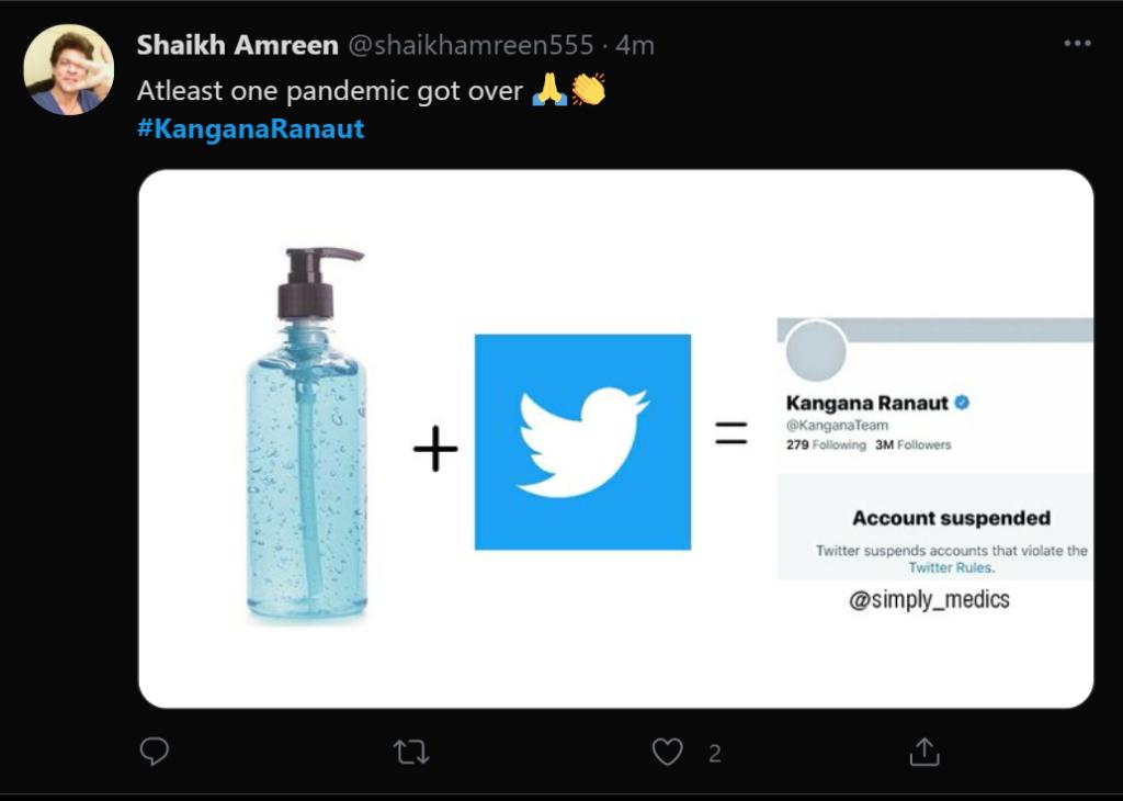 kangana tweet 3 inmarathi