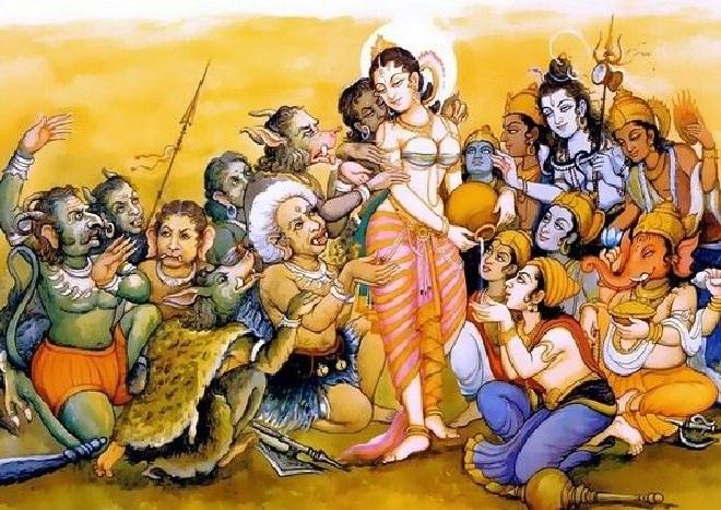 mohini rup of vishnu inmarathi