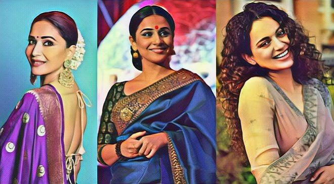 bollywood actresses in saree inmarathi