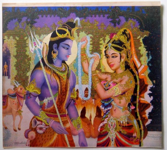 shiv and parvati inmarathi