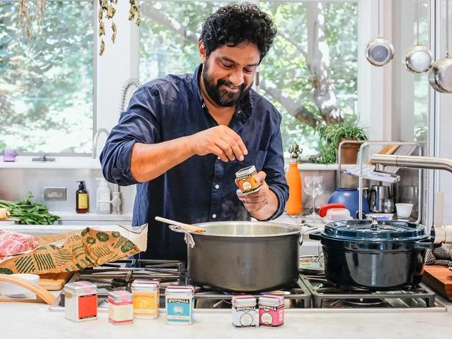 Man working in kitchen InMarathi