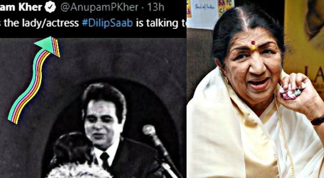 lata mangeshkar anupam kher tweet inmarathi
