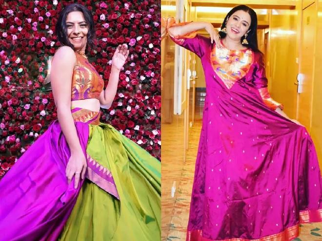 paithani dress inmarathi