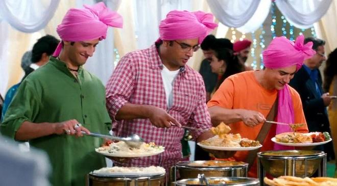 three idiots buffet scene inmarathi