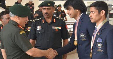 Neeraj Chopra in Army INMarathi