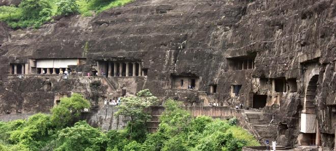 ajanta caves inmarathi