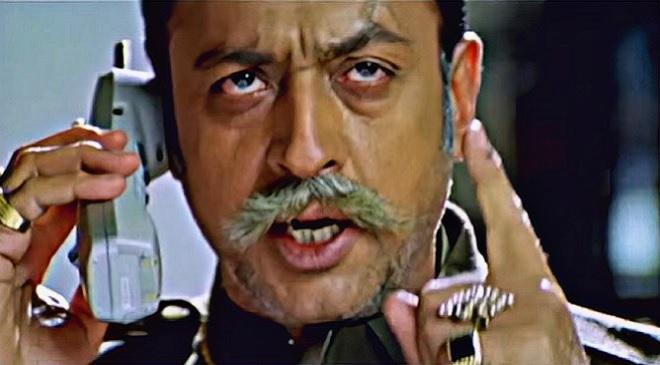 Gulshan Grover on phone inmarathi
