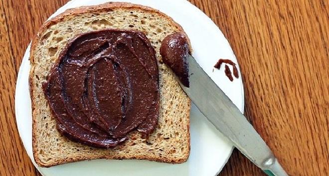 nutella on bread inmarathi